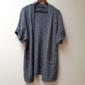Mac & Jac oversize cozy grey cardigan sweater